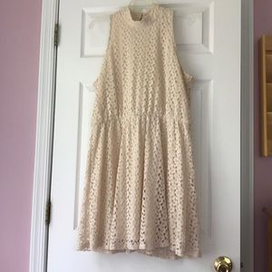 Xhileration cream color dress, size XXL.